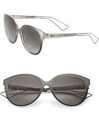 Dior - Ama 2 56mm Oval Sunglasses - Lyst