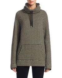Ralph Lauren Collection - Funnelneck Houndstooth Sweatshirt - Lyst