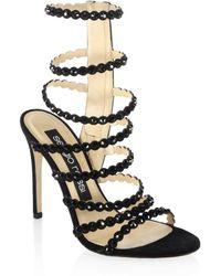 Sergio Rossi - Kimberly Crystal Gladiator Sandals - Lyst