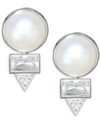 Anzie - Cléo Spear Baguette Earrings - Lyst
