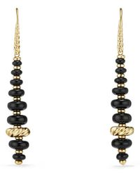 David Yurman - Rio Rondelle 18k Yellow Gold & Gemstone Drop Earrings - Lyst