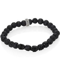 King Baby Studio - Sterling Silver & 8mm Lava Rock Bead Bracelet - Lyst