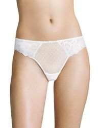 Aubade - Wandering Love Embroidered Thong - Lyst