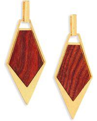 Stephanie Kantis - Wood Spear Drop Earrings - Lyst