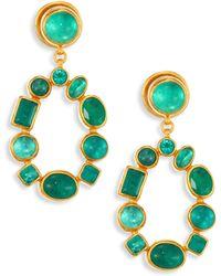 Gurhan - Amulet Hue Emerald & 24k Yellow Gold Drop Earrings - Lyst