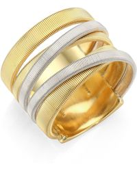 Marco Bicego - Masai 18k Yellow & White Gold Five-strand Ring - Lyst
