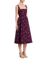 Lela Rose - Floral Matelasse A-line Dress - Lyst