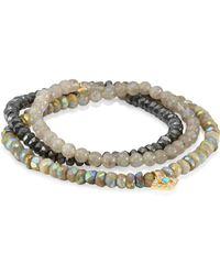 Sydney Evan - Diamond, Turquoise & Peach Corneola Shell Bead Eye Wrap Bracelet - Lyst