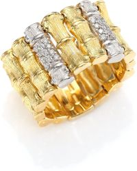 Roberto Coin - Bonsai Diamond, 18k Yellow Gold & 18k White Gold Ring - Lyst