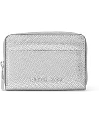 MICHAEL Michael Kors - Metallic Leather Card Case - Lyst