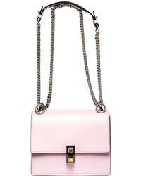 Lyst - Fendi Kan I Floral-detail Metallic Leather Shoulder Bag in ... d6c60e6034f55