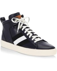 Bally - Hedern Leather Mid-top Sneakers - Lyst