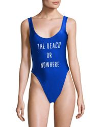 Knowlita - Montauk Or Nowhere One-piece Swimsuit - Lyst