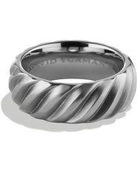 David Yurman - Modern Cable Wide Band Ring - Lyst