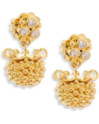 Temple St. Clair - Large Pod Diamond & 18k Yellow Gold Earrings - Lyst