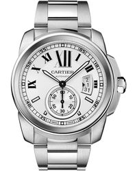 Cartier - Calibre De Stainless Steel Automatic Watch - Lyst