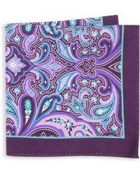 Ike Behar - Window Neat Silk Pocket Square - Lyst