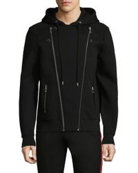 The Kooples - Black Asymmetric Zip Hoodie - Lyst