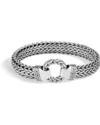 John Hardy - Classic Chain 11mm Ring Clasp Bracelet (silver) Bracelet - Lyst