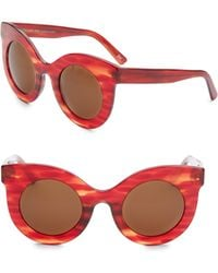 Andy Wolf   Millicent 49mm Thick Frame Cat Eye Sunglasses   Lyst