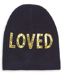 c0a4034af1a Gucci - Loved Sequin-embroidered Wool Hat - Lyst