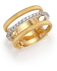 Marco Bicego - Masai Diamond, 18k Yellow Gold & 18k White Gold Ring - Lyst