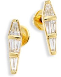 Nikos Koulis - Spectrum Tapered Diamond & 18k Yellow Gold Stud Earrings - Lyst