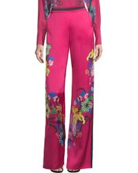 Etro - Tropical Floral-print Trousers - Lyst