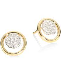 Phillips House - Affair Diamond Micro Infinity Loop Stud Earrings - Lyst