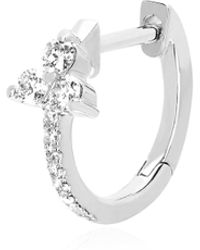 EF Collection - Diamond & 14k White Gold Trio Earrings - Lyst