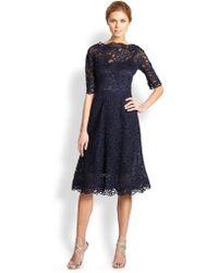 Teri Jon - Lace Flared Dress - Lyst