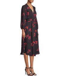 Shoshanna - Waldorf Floral-print A-line Midi Dress - Lyst