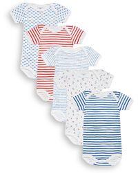 Petit Bateau - Baby's Five-piece Striped & Mixed-print Bodysuits Set - Lyst