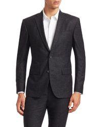 Saks Fifth Avenue - Men's Modern Wool & Silk Suit Jacket - Charcoal - Lyst