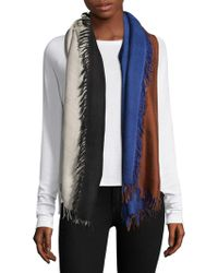 Bajra - Checkerboard Wool & Silk Scarf - Lyst