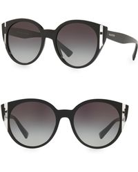 07352dc1da7 Lyst - Valentino Oversized Butterfly Sunglasses in Black