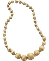 Marco Bicego - Africa 18k Yellow Gold Graduated Ball Necklace - Lyst