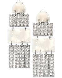 Lele Sadoughi - Confetti Lee Sadoughi Crystal Skyscraper Earrings - Lyst