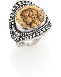 Konstantino - Kerma Bronze & Sterling Silver Coin Ring - Lyst