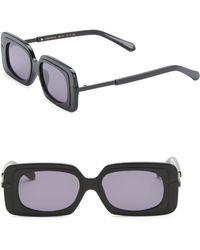 Karen Walker - 51mm Mr. Binnacle Black Sunglasses - Lyst