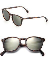 Oliver Peoples - Finley 51mm Round Sunglasses - Lyst