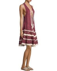 Jonathan Simkhai   Bandana Tiered Cotton Knee-length Dress   Lyst