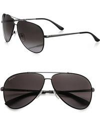 Ferragamo - Classic Aviator 60mm Sunglasses - Lyst