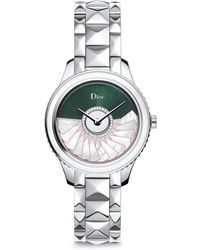 Dior - Viii Grand Bal Limited-edition Montaigne Diamond, Alligator & Stainless Steel Automatic Watch - Lyst