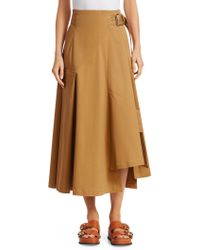 3.1 Phillip Lim - Belted Cotton Utility Skirt - Lyst