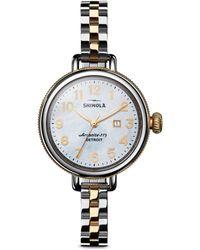 Shinola - Birdy Two-tone Stainless Steel Bracelet Watch - Lyst
