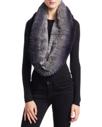 Saks Fifth Avenue - Knitted Rabbit Fur Infinity Scarf - Lyst