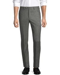 Officine Generale - Paul Straight-fit Birdseye Flannel Wool Pants - Lyst