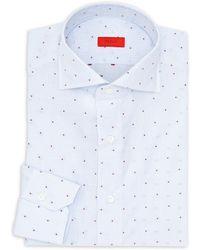 Isaia - Checkered Cotton Dress Shirt - Lyst
