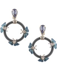 Alexis Bittar - Brutalist Butterfly Crystal Clip-on Earrings - Lyst